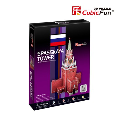 Cubic-Fun-C118H 3D Puzzle - Spasskaya-Turm, Russland - Schwierigkeitsgrad: 4/8