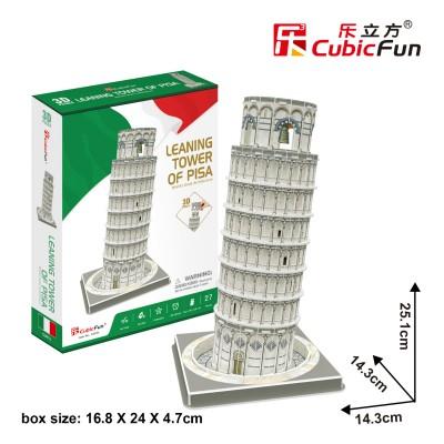 Cubic-Fun-C241h 3D Puzzle - Schiefer Turm von Pisa - (Schwierigkeit: 4/8)