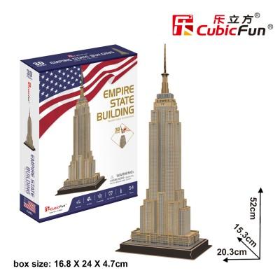 Cubic-Fun-C246h 3D Puzzle - Empire State Building (Schwierigkeit: 4/8)