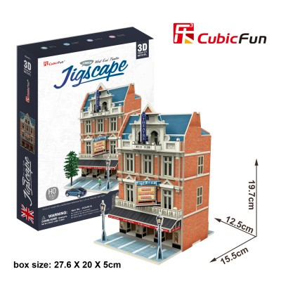Cubic-Fun-HO4101h 3D Puzzle - Jigscape Collection - West End Theatre (Schwierigkeit: 5/6)