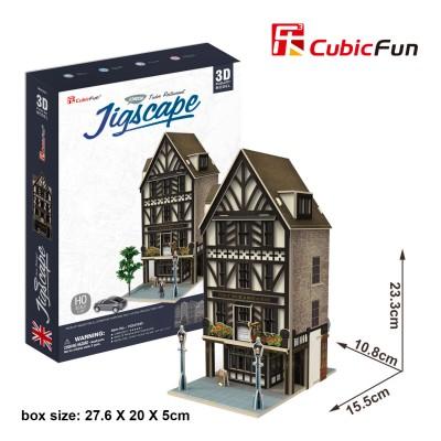 Cubic-Fun-HO4104h 3D Puzzle - Jigscape Collection - Tudor Restaurant (Schwierigkeit: 5/6)