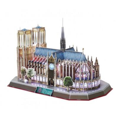 Cubic-Fun-L173H Puzzle 3D mit LED - Notre Dame de Paris - Schwierigkeit: 6/8