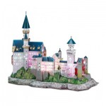 Cubic-Fun-L174H Puzzle 3D mit LED - Schloss Neuschwanstein - Schwierigkeit 6/8