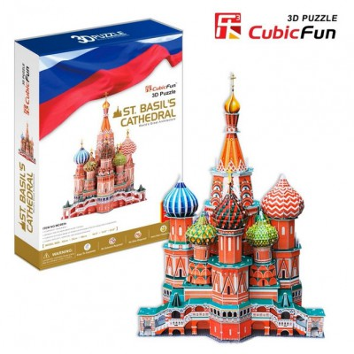 Cubic-Fun-MC093H Puzzle 3D - Basilius-Kathedrale, Moskau