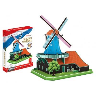 Cubic-Fun-MC219h 3D Puzzle - Holländerwindmühle Windmühle (Schwierigkeit: 5/6)
