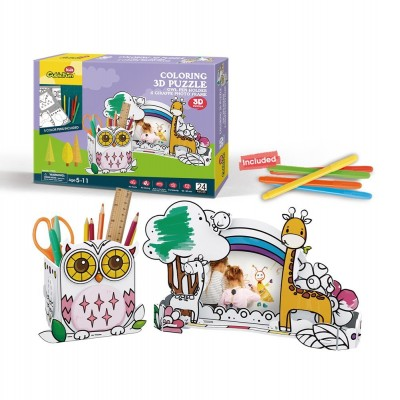 Cubic-Fun-P695h 3D Puzzle - Stiftehalter Eule & Bilderrahmen Giraffe