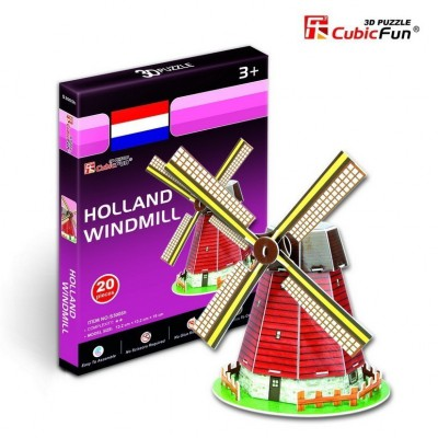 Cubic-Fun-S3005H Puzzle 3D Mini - Windmühle, Holland
