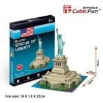 Cubic-Fun-S3026h 3D Puzzle Mini - Freiheitsstatue - Schwierigkeit: 2/8