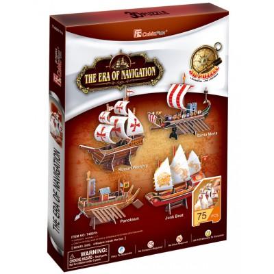 Cubic-Fun-T4001H Puzzle 3D - Die Ära der Schiffahrt