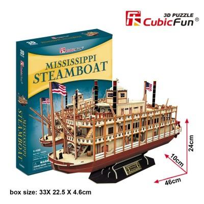 Cubic-Fun-T4026h 3D Puzzle - Mississippi Steamboat (Schwierigkeit: 5/8)