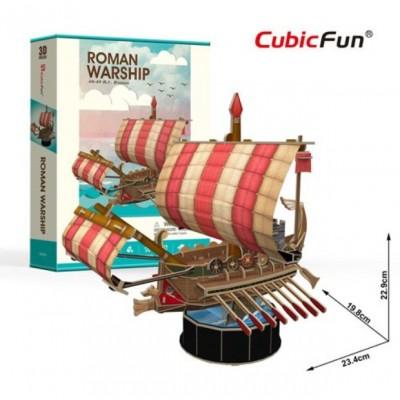 Cubic-Fun-T4032h 3D Puzzle - Roman Warship - Schwierigkeit: 4/6