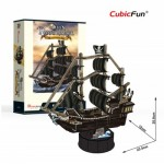 Cubic-Fun-T4035h 3D Puzzle - Queen Anne's Revenge - Schwierigkeit: 4/6