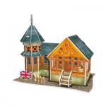 Cubic-Fun-W3107h 3D Puzzle - British Flavor Villa