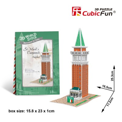 Cubic-Fun-W3116H 3D Puzzle World Style - Welcome to Italy