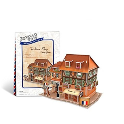 Cubic-Fun-W3119H 3D Puzzle World Style - Welcome to France