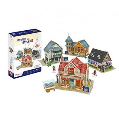 Cubic-Fun-W3186h 3D Puzzle - 3D World Style - Vereinigtes Königreich - Schwierigkeit: 4/6