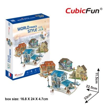 Cubic-Fun-W3187h 3D Puzzle - 3D World Style - Frankreich - Schwierigkeit: 4/6