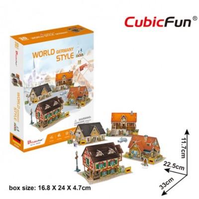 Cubic-Fun-W3189h 3D Puzzle - 3D World Style - Deutschland - Schwierigkeit: 4/6