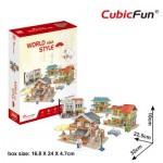 Cubic-Fun-W3190h 3D Puzzle - 3D World Style - Asien - Schwierigkeit: 4/6