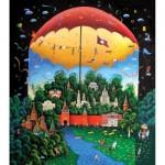 HCM-Kinzel-69111 Holz Puzzle - Tag und Nacht