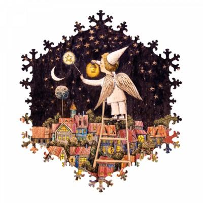 HCM-Kinzel-69136 Wooden Puzzle - Starry Sky