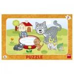 Dino-30131 Frame Puzzle - Katze