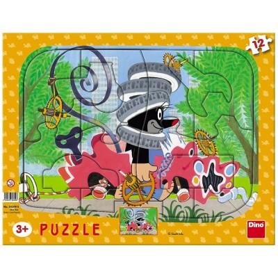 Dino-30309 Rahmenpuzzle - Der Maulwurf