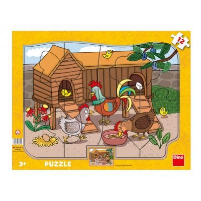 Puzzle  Dino-30310 Bauernhoftiere