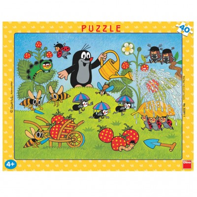 Dino-32201 Rahmenpuzzle - Der Maulwurf