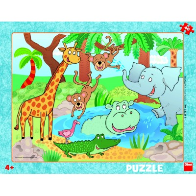Dino-32223 Frame Puzzle - At the Zoo