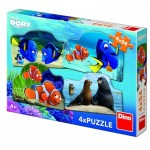 Dino-33321 4 Puzzles - Finding Dory