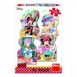 Dino-33325 4 Puzzles - Minnie und Daisy