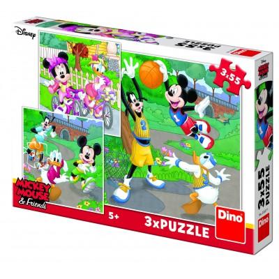 Dino-33527 3 Puzzles - Mickey