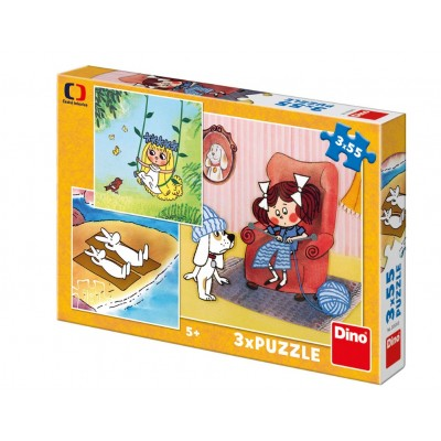 Dino-33529 3 Puzzles - Fairy Tales