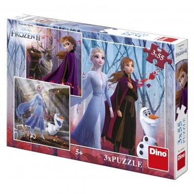 Dino-33533 3 Puzzles - Frozen 2
