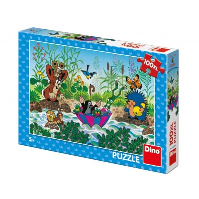 Puzzle  Dino-34342 XXL Teile - The Little Mole