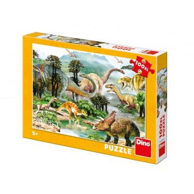 Puzzle  Dino-34343 XXL Teile - Dinosaurier