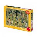 Puzzle  Dino-34348 XXL Teile - Josef Lada - Fairy Tales