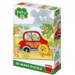 Puzzle  Dino-35019 XXL Teile - Safari