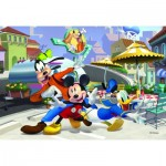 Puzzle  Dino-35166 Mickey Mouse und Freunde