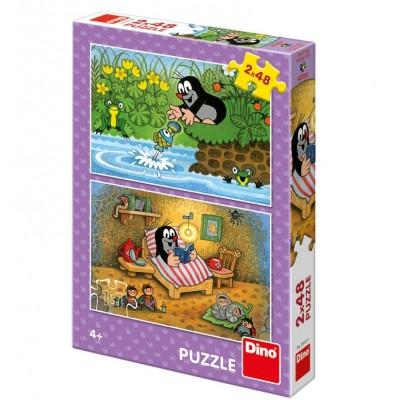 Dino-38155 2 Puzzles - The little Mole