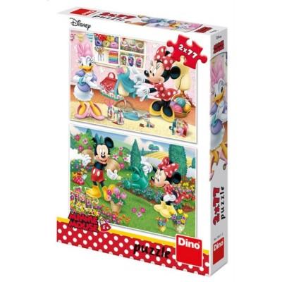 Dino-38611 2 Puzzles - Mickey