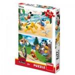 Dino-38612 2 Puzzles - Mickey