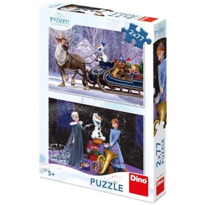 Dino-38613 2 Puzzles - Frozen