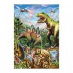 Dino-39415 Neon Puzzle - Dinosaurier