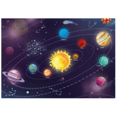 Puzzle  Dino-47222 XXL Teile - Sonnensystem