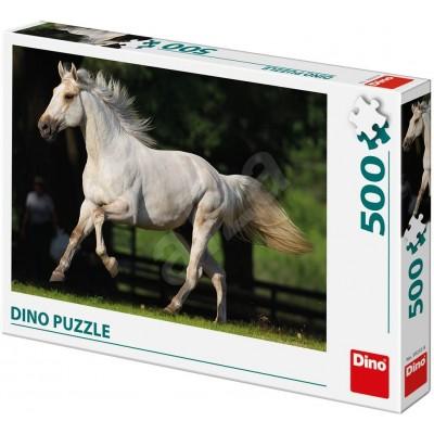 Puzzle Dino-50233 Weißes Pferd
