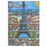 Puzzle  Dino-50237 Eiffelturm