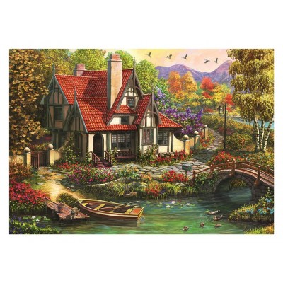 Puzzle  Dino-50251 Cottage by the Lake