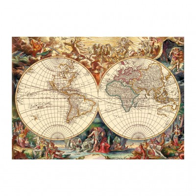 Puzzle Dino-53249 Antike Weltkarte